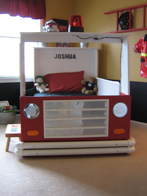 Fire Engine Bed   Built For Twin Bed (with Underneath Storage)